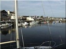 SC2667 : Moored craft Castletown inner harbour by Richard Hoare