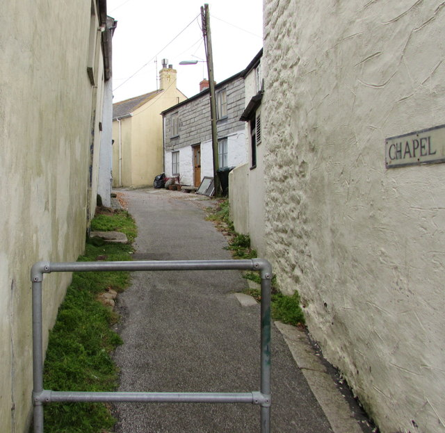 Northern end of Chapel Lane, Penryn