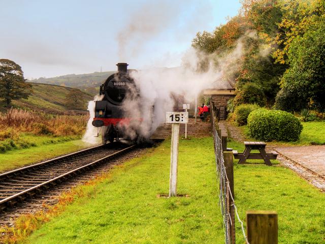 Steam Train at Irwell Vale