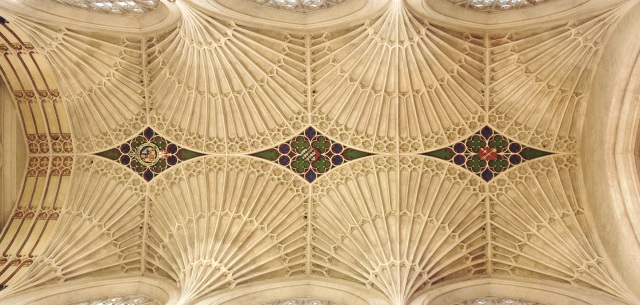 Fan-vaulted ceiling of the chancel, Bath Abbey