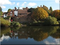 SO8454 : River Severn by Worcester's Watergate by Philip Halling