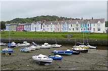 SN4562 : Harbour and terrace at Aberaeron, Ceredigion by Roger  Kidd