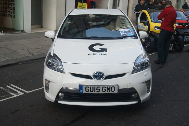 View of a Toyota Prius parked on Conduit Street