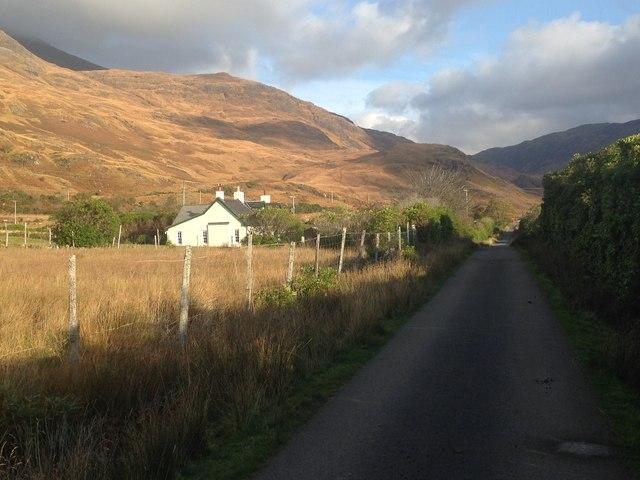 Minor road at Lochbuie