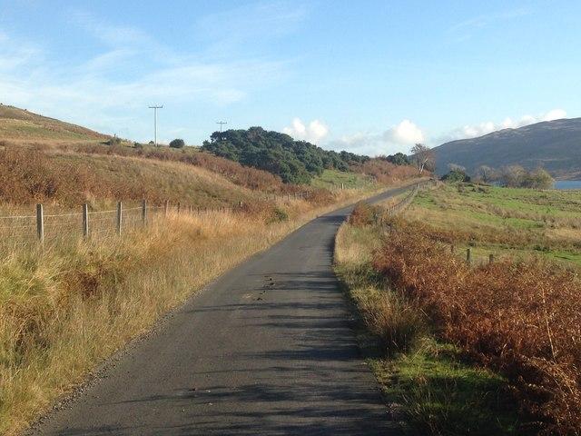 Minor road near Kinlochspelve