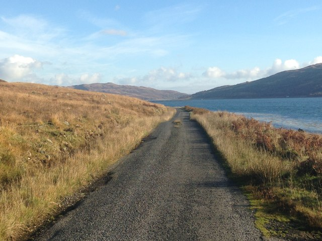 Minor road along Loch Spelve
