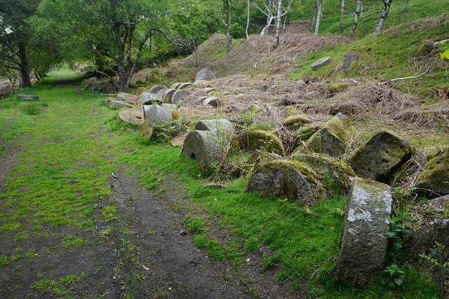 Millstone graveyard on Millstone Edge