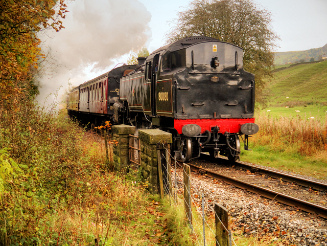 ELR Steam Train near Irwell Vale
