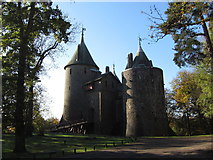 ST1382 : Approach to Castell Coch on an autumn morning by Gareth James