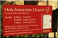 SJ8594 : Church of the Holy Innocents: The Sign by Bob Harvey