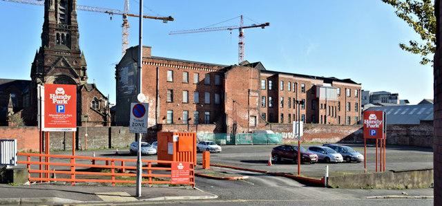 Car park, Little Donegall Street, Belfast - November 2015(1)