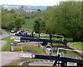 SP1756 : View down the Wilmcote Lock Flight by Mat Fascione
