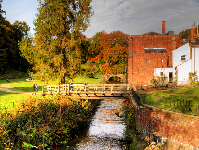 River Bollin at Quarry Bank Mill
