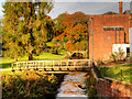 SJ8382 : Bridge over River Bollin at Quarry Bank Mill by David Dixon