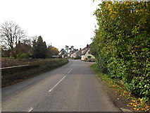 TM3569 : Entering Peasenhall on the A1120 Chapel Street by Adrian Cable