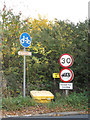 TM3764 : Roadsigns on Carlton Road by Adrian Cable