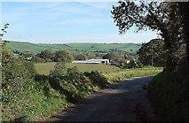 SY4193 : Silverbridge Farm by Derek Harper