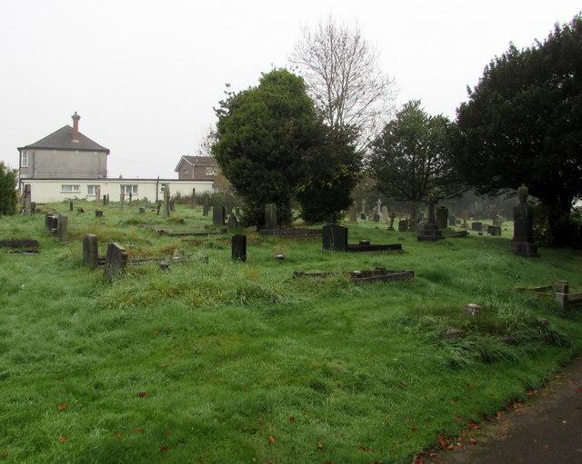 North side of St Mary's churchyard, Malpas, Newport