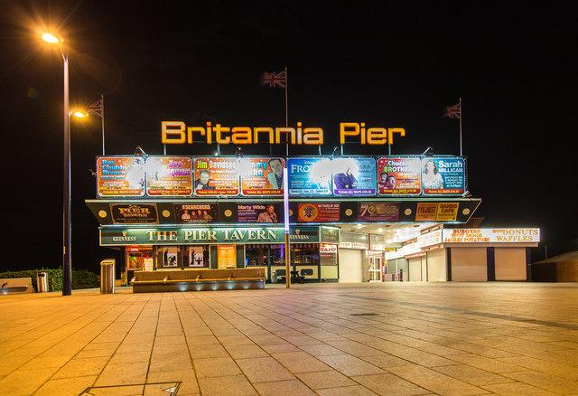 Britannia Pier at night