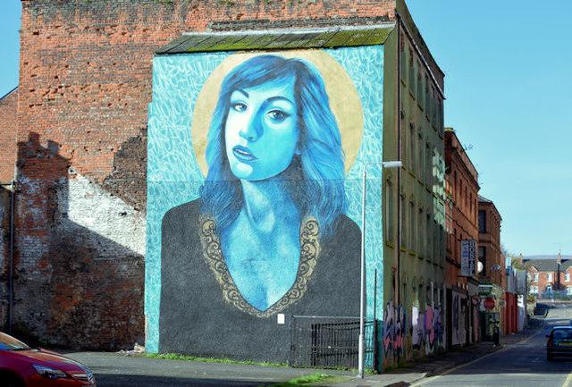 Mural, Kent Street, Belfast (November 2015)