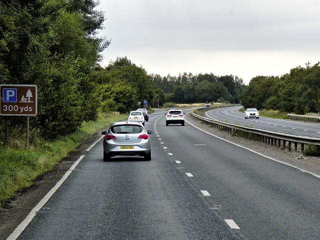 A47 Westbound at North Tuddenham