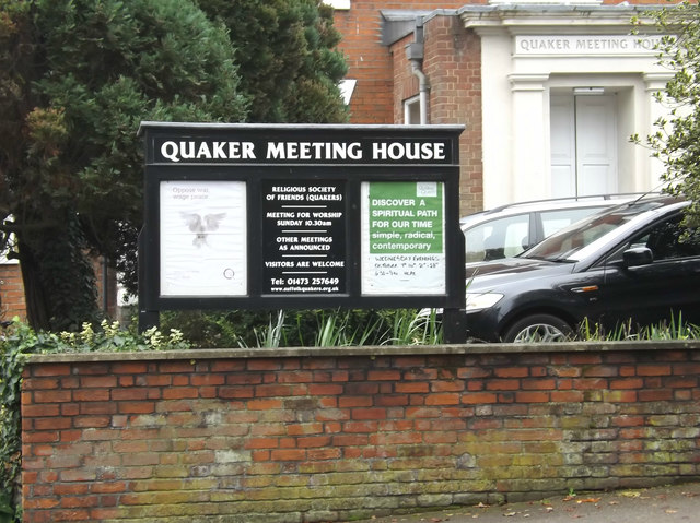 Quaker Meeting House Notice Board