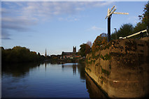 SO8453 : River Severn, Diglis by Stephen McKay