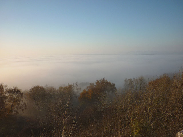 Above the clouds, Warton Crag
