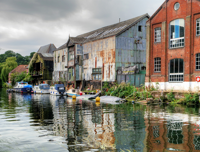 River Wensum, The Waterfront at Norwich