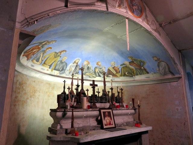 Altar and apse, Italian POW church, Henllan