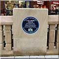 SJ8990 : Lancashire Bridge: Blue Plaque by Gerald England