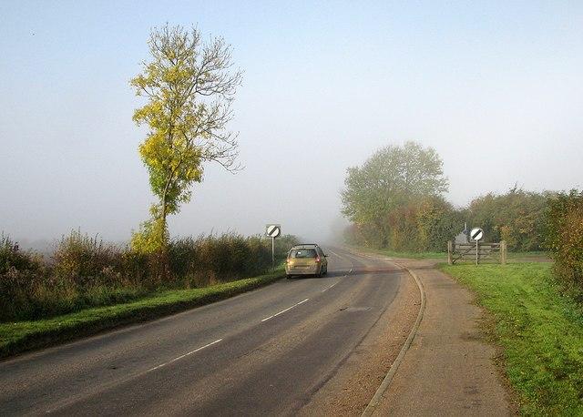 Comberton Road in autumn