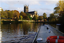 SO8454 : Boating through Worcester by Stephen McKay