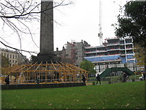 NT2574 : Preparing St Andrew Square for Christmas by M J Richardson