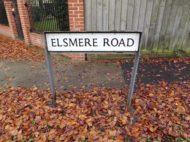 Elsmere Road sign