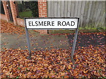 TM1645 : Elsmere Road sign by Adrian Cable