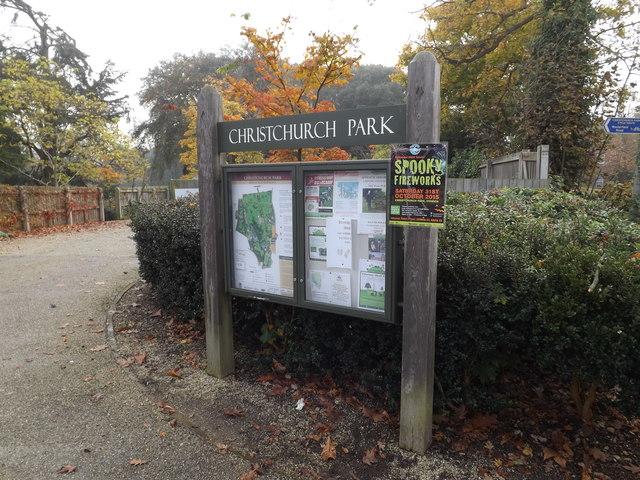 Christchurch Park sign