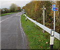 SO0291 : National Cycle Network Route 81 signpost, Caersws by Jaggery