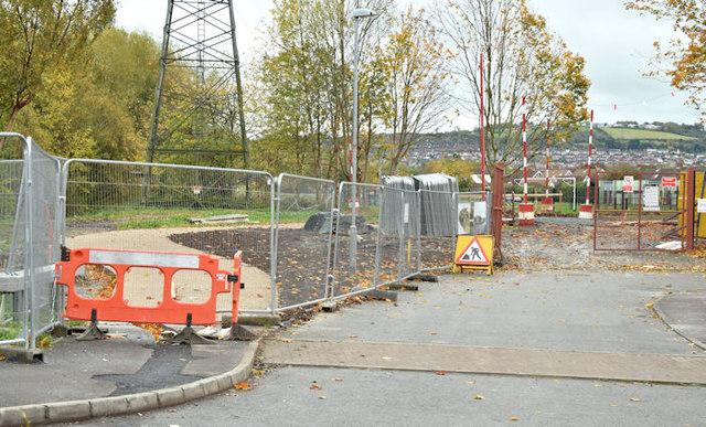 Connswater Greenway works, Belfast (November 2015)