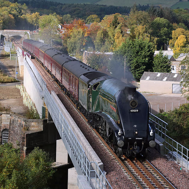 A steam special on the Borders Railway at Galashiels