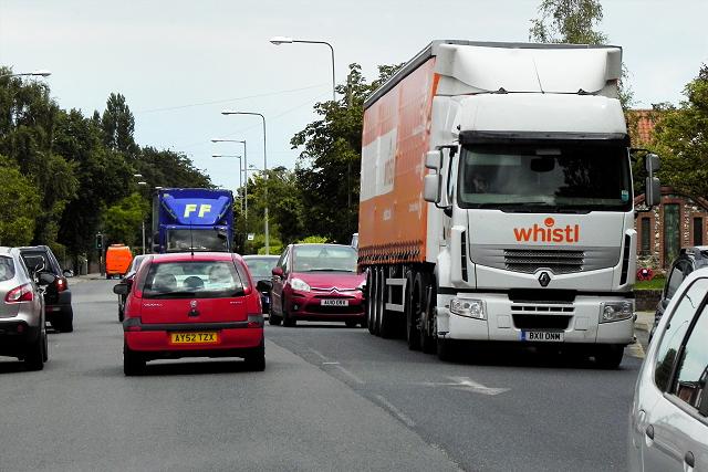 Heavy Goods Traffic on Wroxham Road
