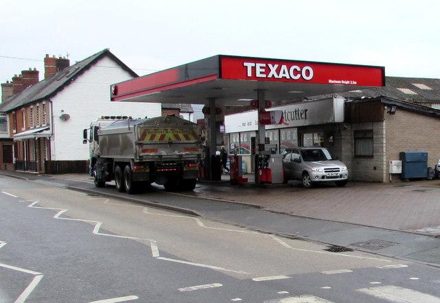 Texaco filling station, Caersws