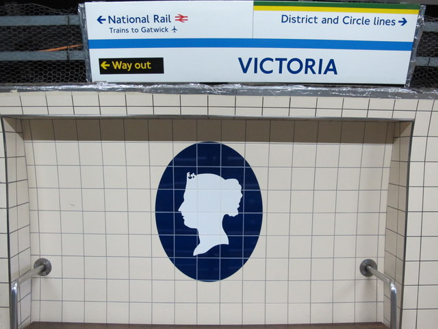 Victoria tube station, Victoria Line, ceramic tiles
