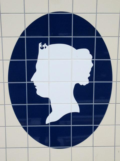 Victoria tube station, Victoria Line, ceramic tiles - detail