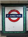 TQ2979 : Roundel at St. James's Park tube station by Mike Quinn