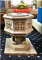 SH7882 : Holy Trinity Font by Gerald England