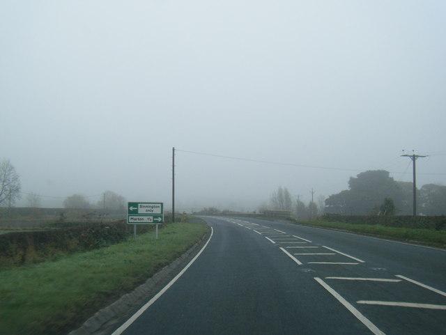 A170 nearing Sinnington turn