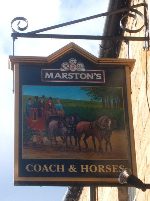 Sign for the Coach & Horses, Barnard Castle