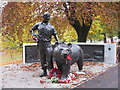 NT2573 : Wojtek in Princes Street Gardens by M J Richardson