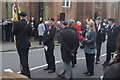 TQ6794 : View of Remembrance Sunday veterans on Billericay High Street by Robert Lamb